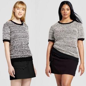 NWT Victoria Beckham x Target Black Scallop Skirt